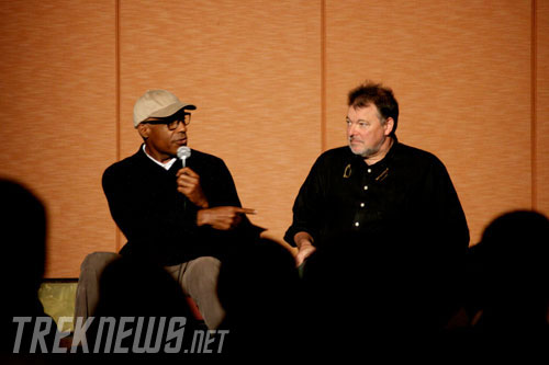 Michael Dorn and Jonathan Frakes