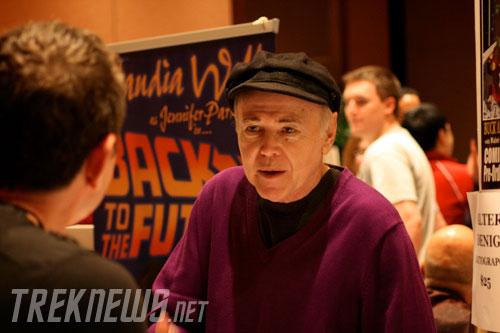 Walter Koenig talks to a fan