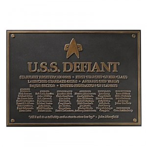Defiant Dedication Plaque