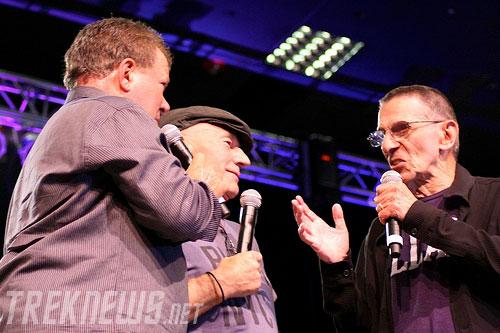 William Shatner, Patrick Stewart, and Leonard Nimoy