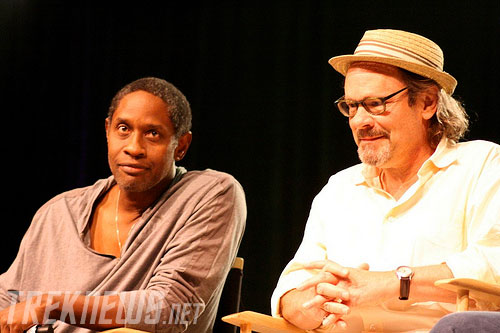Voyager's Tim Russ and Ethan Phillips