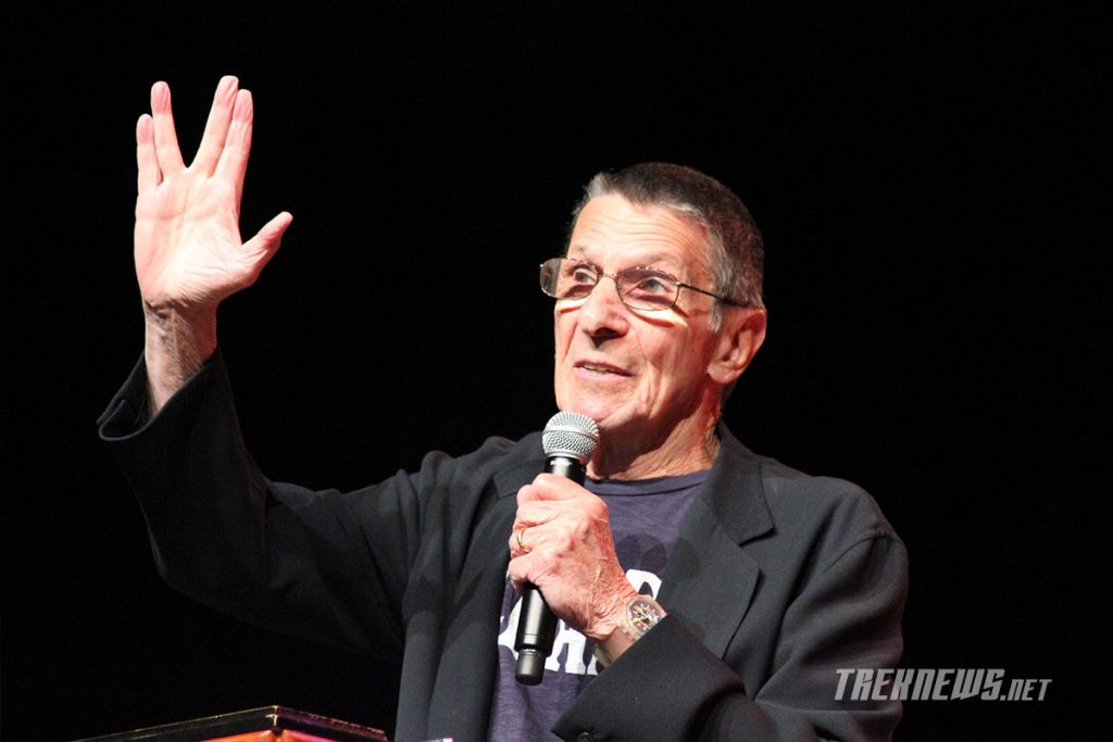 Nimoy discusses the origin of the Vulcan salute