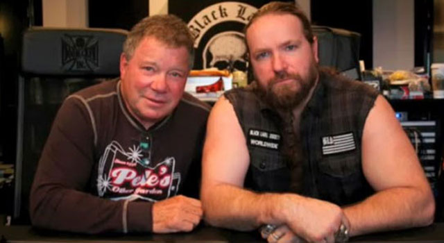 "William Shatner with Zakk Wylde while recording ""Iron Man"""