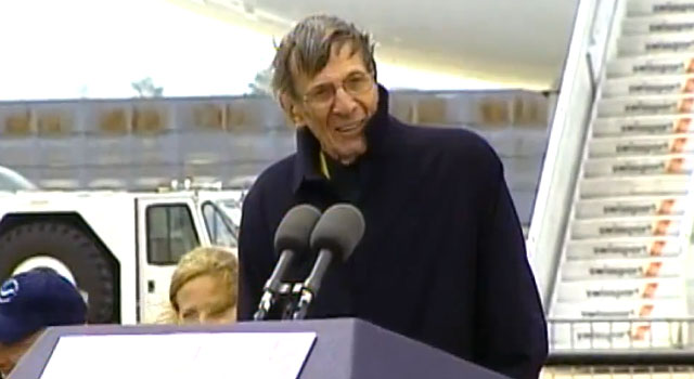 Leonard Nimoy Welcomes Space Shuttle Enterprise to New York