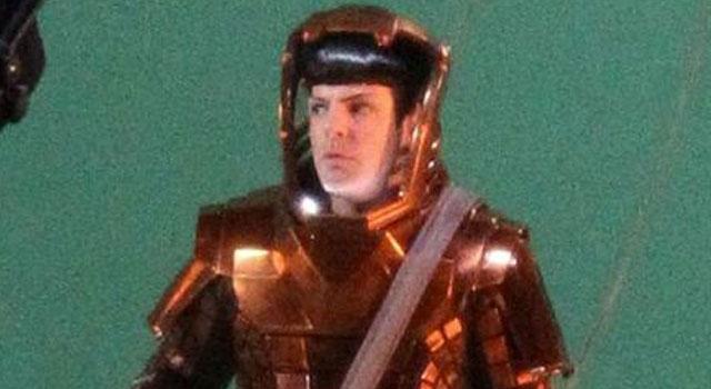 Photos of Zachary Quinto Filming Star Trek 2