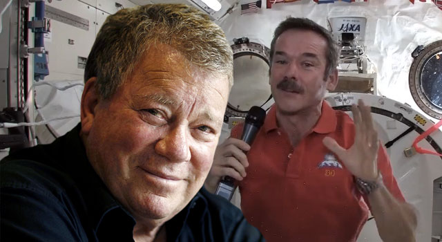 WATCH: William Shatner Speaks Live to NASA Astronaut in Space