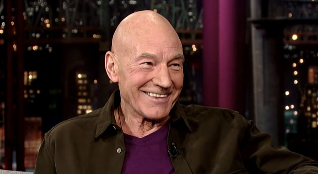 WATCH: Patrick Stewart Talks Star trek Fans And The Olympics On David Letterman