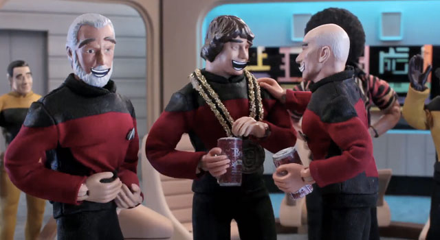 WATCH: Robot Chicken's Star Trek: TNG Sketch With Patrick Stewart and Chris Pine