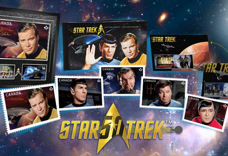 Canadian Post Office Celebrates Star Trek's 50th Anniversary