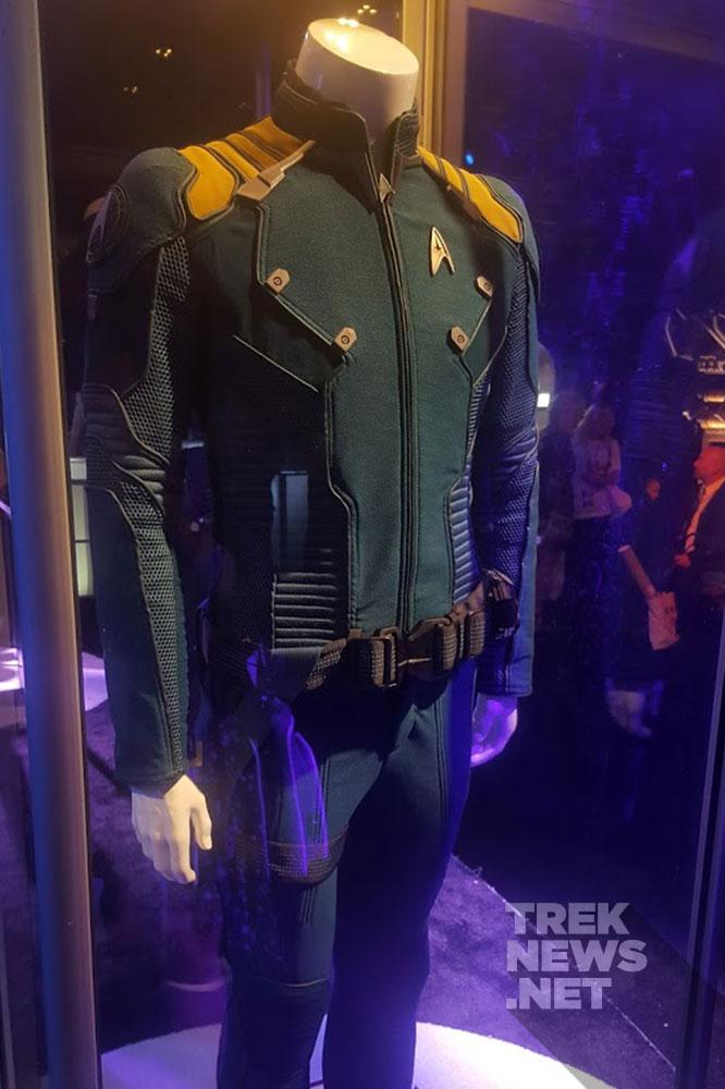 Kirk's Away Mission uniform on display