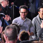 Chris Pine, J.J. Abrams and Justin Lin