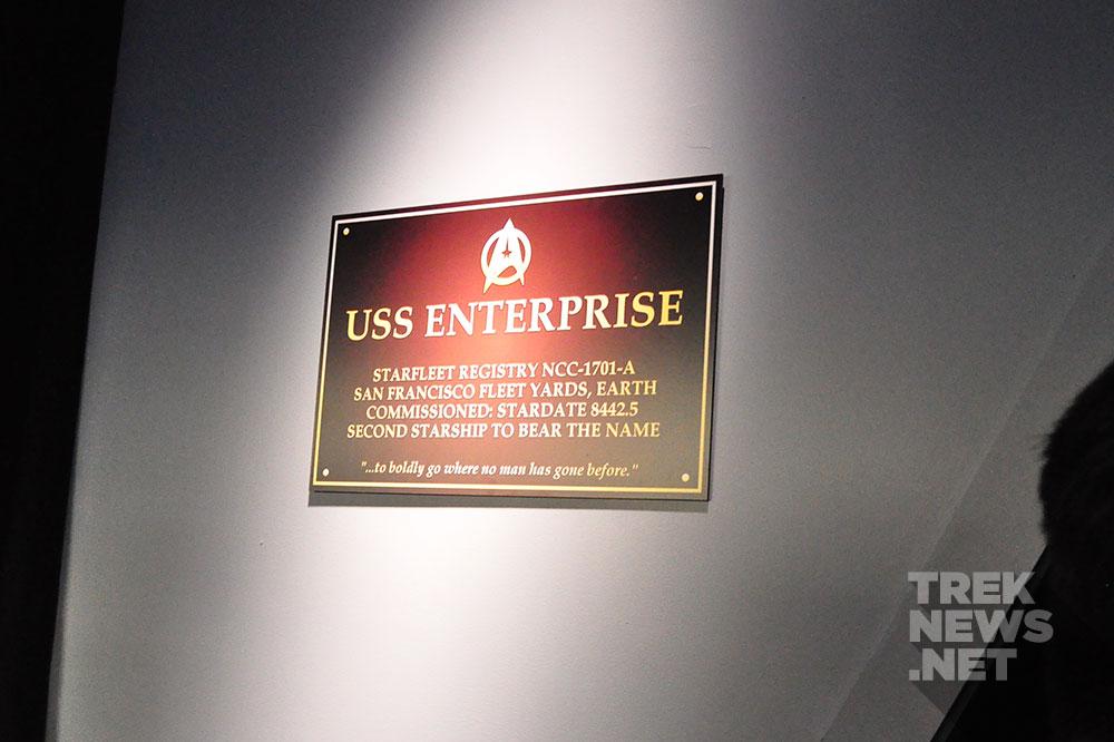 Enterprise-A dedication plaque