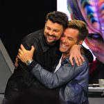 Karl Urban and Chris Pine at the Star Trek Beyond fan event in Los Angeles