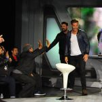 Chris Pine and Karl Urban hit the stage