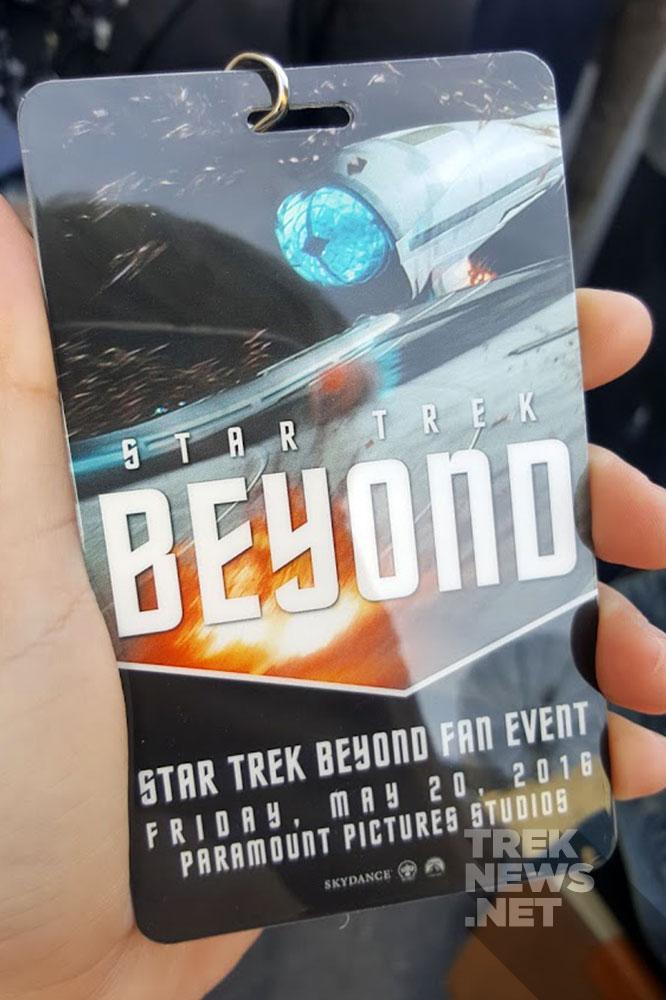 Our Star Trek Beyond fan event lanyard