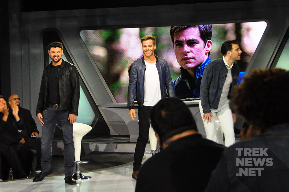 Karl Urban, Chris Pine and Zachary Quinto