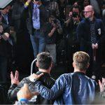 Karl Urban and Chris Pine