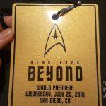 Our golden ticket to the premiere of Star Trek Beyond in San Diego