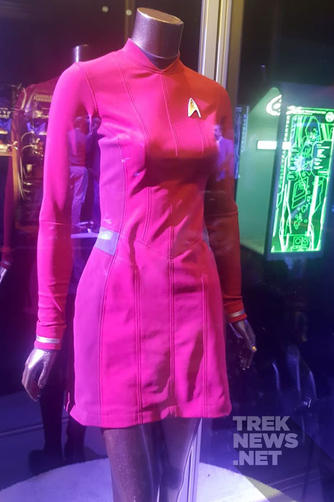 Uhura's uniform on display