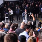 Zachary Quinto unveils Leonard Nimoy Way at the Paramount lot