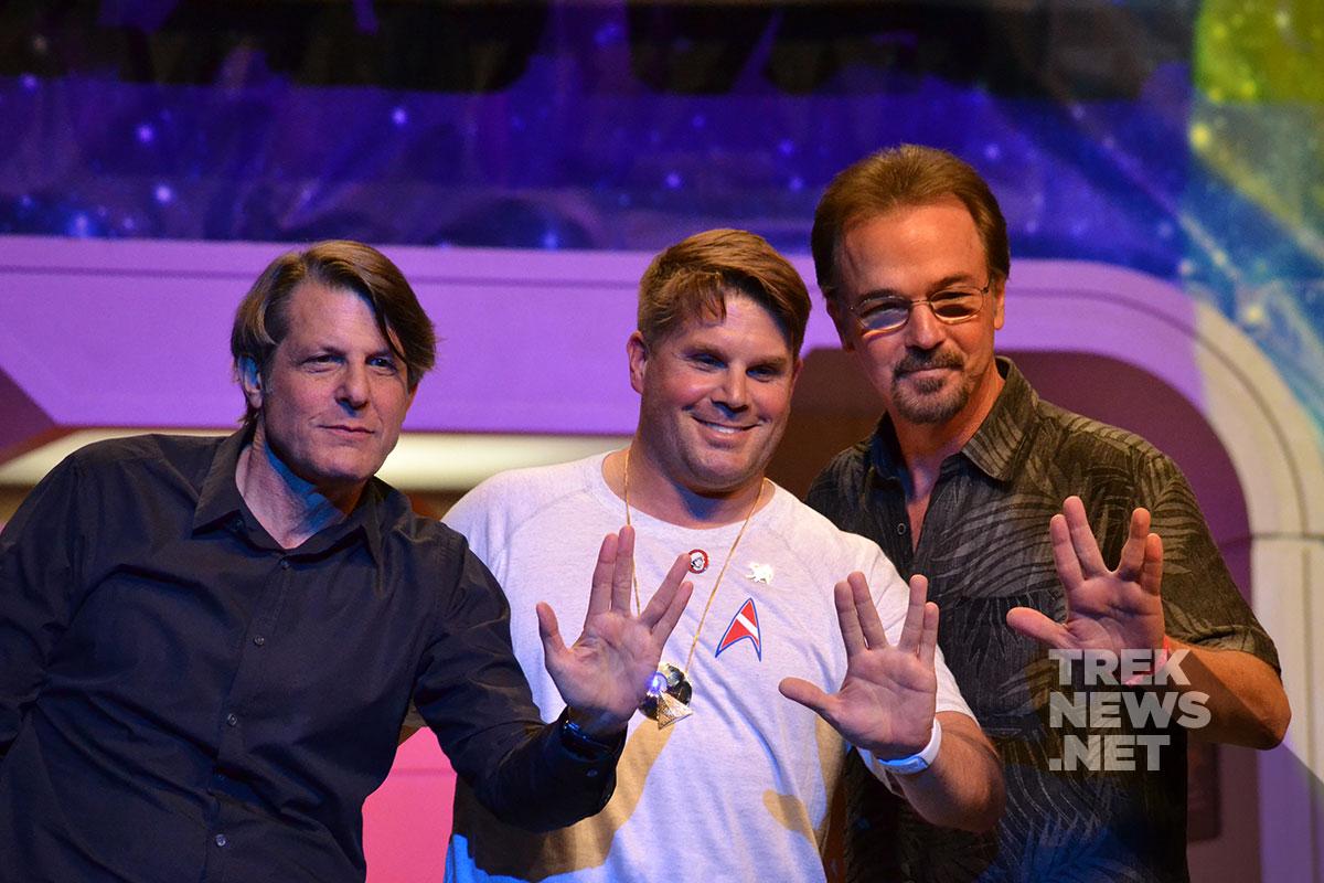 Adam Nimoy, Rod Roddenberry and Chris Doohan