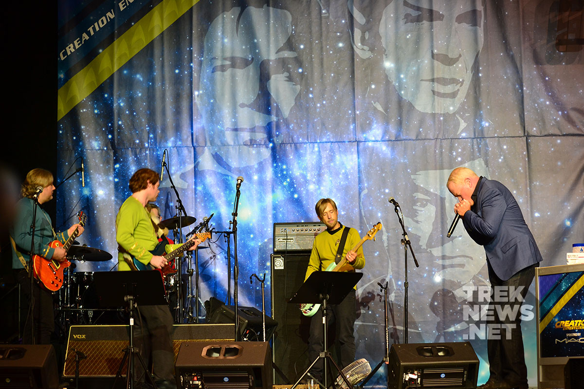 Neal McDonough performs with Five Year Mission