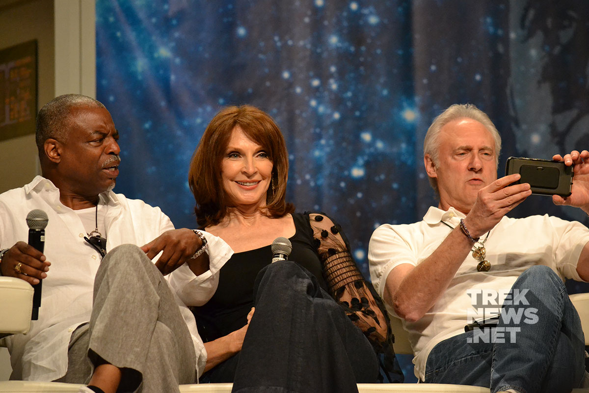 LeVar Burton, Gates McFadden and Brent Spiner
