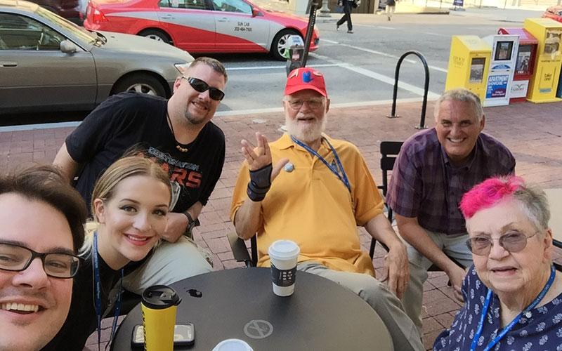 Bjo, John Trimble and fellow Star Trek fans