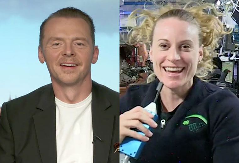 WATCH: Simon Pegg Talks Star Trek Beyond With Astronaut Aboard The ISS