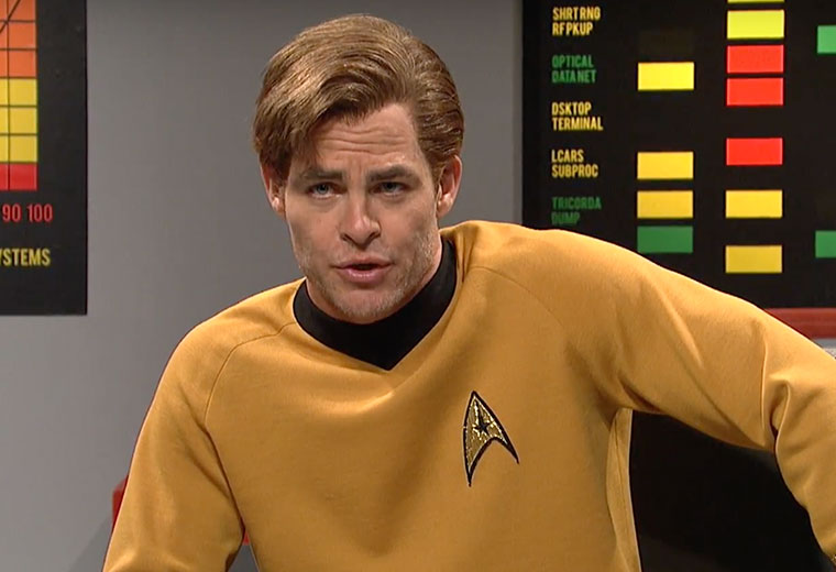 WATCH: Chris Pine Channels His Inner Shatner In SNL 'Star Trek' Sketch