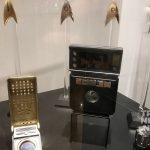 Starfleet insignia badges, communicator and tricorder