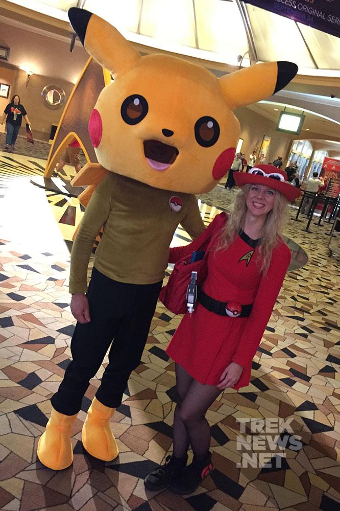 Starfleet Pikachu and Ash