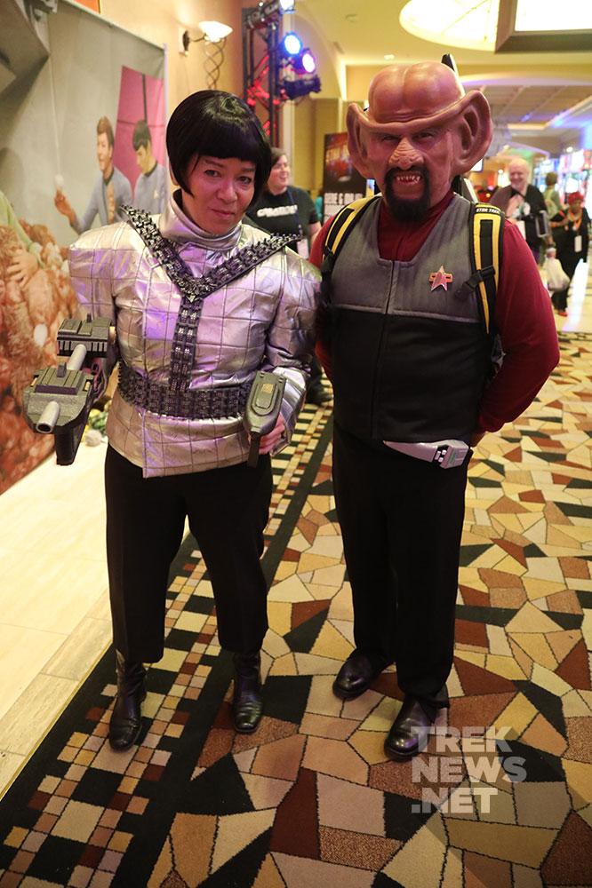 Romulan and Ferengi Starfleet Officer