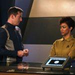Jason Isaacs as Capt. Gabriel Lorca and Sonequa Martin-Green as Cmdr. Michael Burnham