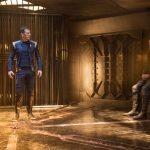 Jason Isaacs as Captain Gabriel Lorca and Rainn Wilson as Harry Mud