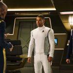 Doug Jones as Saru, Wilson Cruz as Dr. Hugh Culber and Anthony Rapp as Lieutenant Paul Stamets