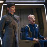 James Frain as Ambassador Sarek and Doug Jones as Saru