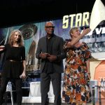 Gates McFadden, Michael Dorn and Denise Crosby