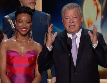 WATCH: William Shatner, Sonequa Martin-Green, Star Trek Alums Accept Emmy Award