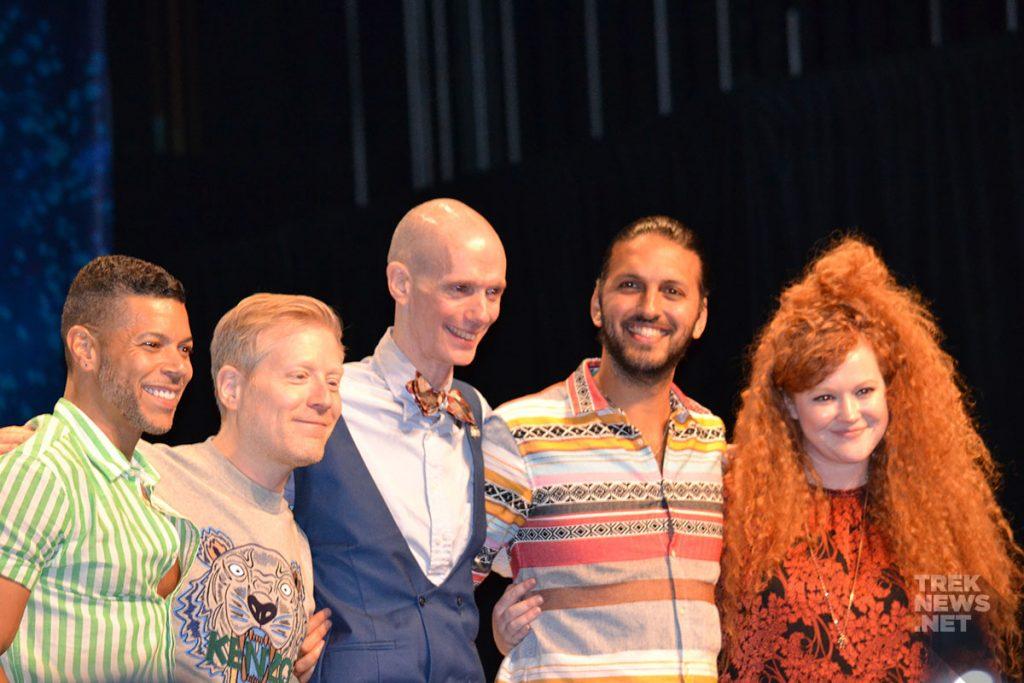 Wilson Cruz, Anthony Rapp, Doug Jones, Shazad Latif and Mary Wiseman