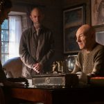 Orla Brady as Laris and Jamie McShane as Zhaban and Patrick Stewart as Jean-Luc Picard
