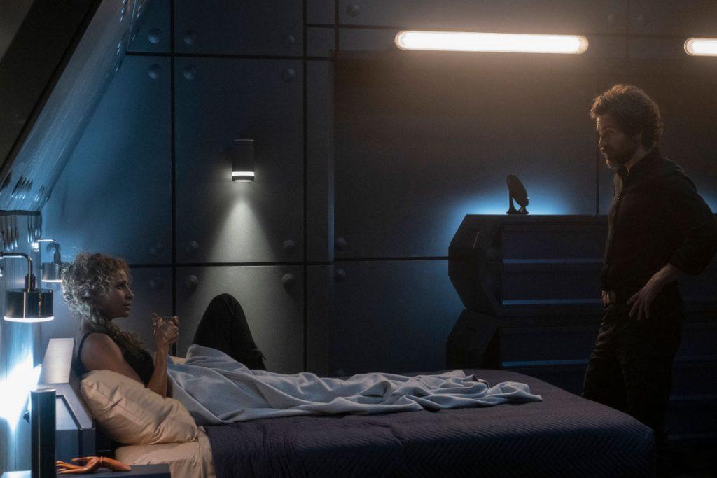 Michelle Hurd as Raffi; Santiago Cabrera as Rios