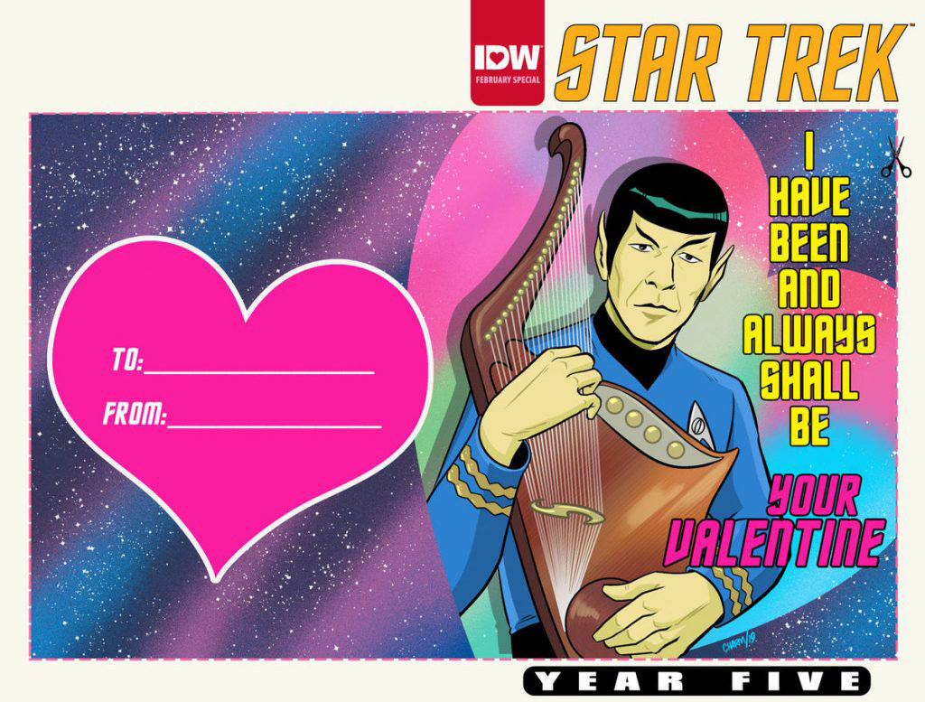 Variant Cover of STAR TREK YEAR FIVE: VALENTINE'S DAY SPECIAL