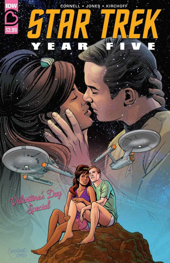 STAR TREK YEAR FIVE: VALENTINE'S DAY SPECIAL Regular Cover by Chris Jones