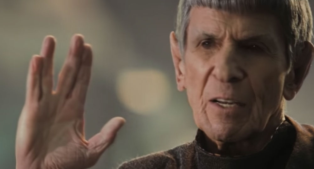 Nimoy as Spock in Star Trek (2009)