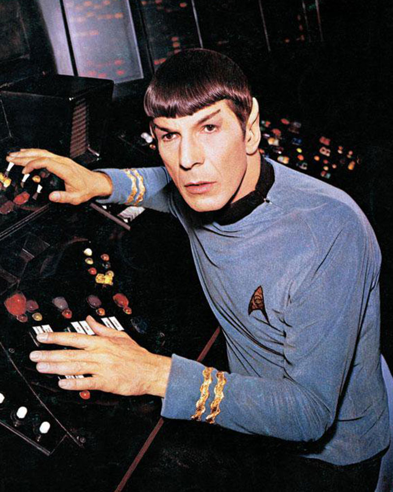 Nimoy as Spock on Star Trek