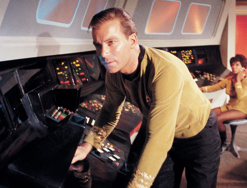 William Shatner as Captain James T. Kirk on Star Trek