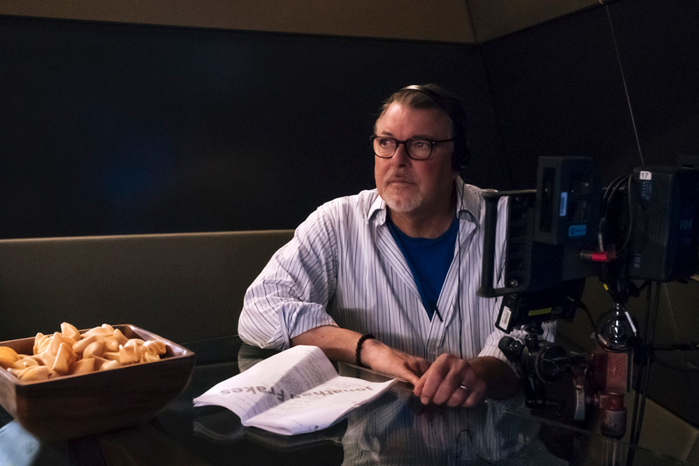 Director Jonthan Frakes on the set of Star Trek: Discovery