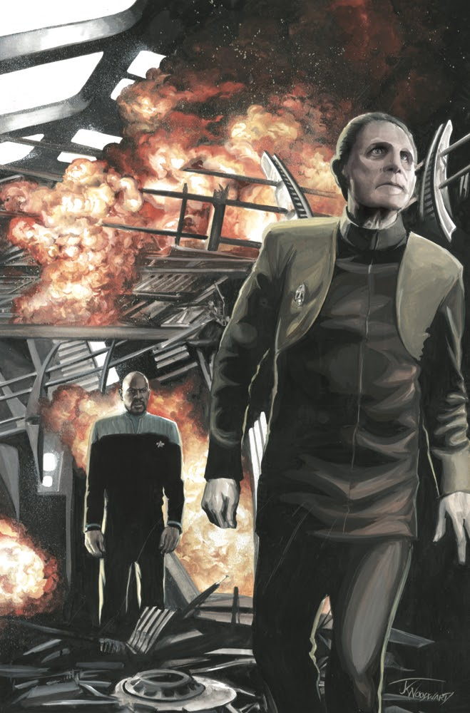 STAR TREK: TOO LONG A SACRIFICE #1 variant cover by J K Woodward