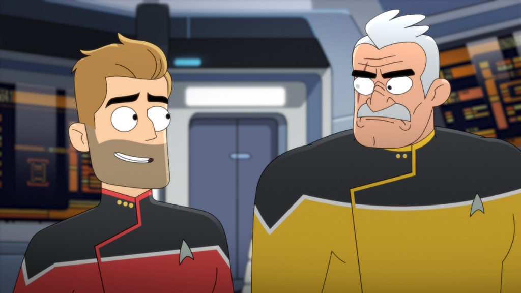 Jerry O'Connell as Commander Jack Ransom and Fred Tatasciore as Lieutenant Shaxs